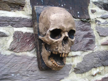 Laughing Skull Wall Hanging Dark