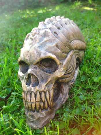 Small Skull Of An Alien Dark