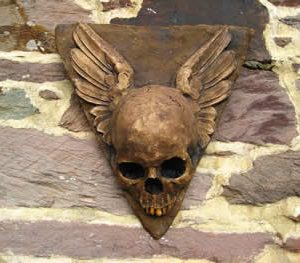 Winged Hanging Skull Dark