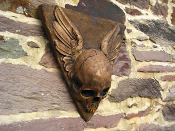 Winged Skull Wall Hanging Dark