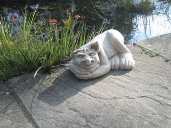 Large Sleeping Troll Pale Sculpture
