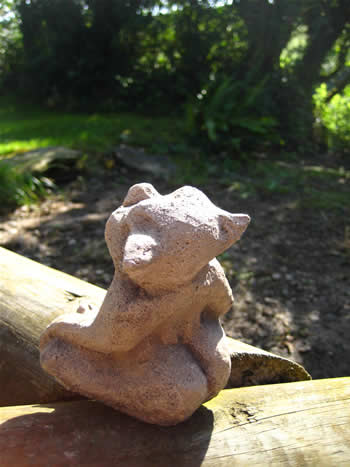 Small Finger Garden Ornament Troll Dark