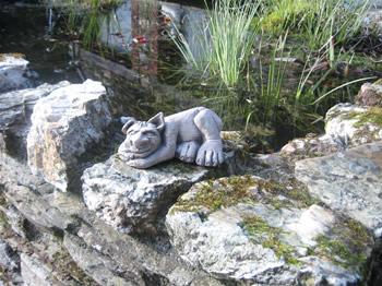 Small Sleeping Troll Dark Sculpture