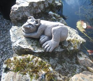 Small Sleeping Troll Dark Sculpture